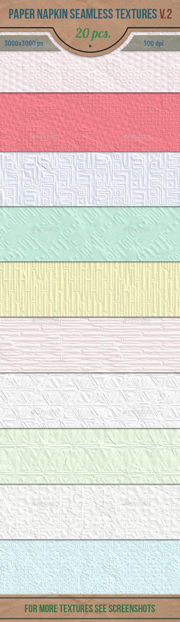 Paper Napkin Seamless HD Textures Set v.2 - Paper Textures