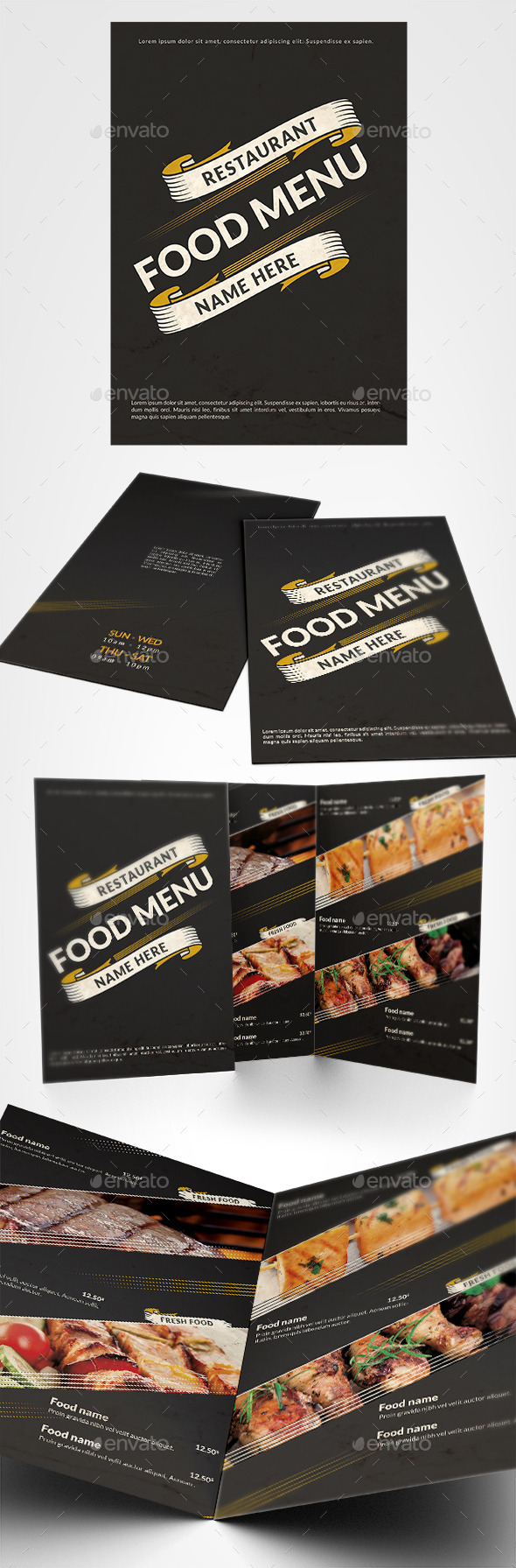 Restaurant Food Menu - Food Menus Print Templates
