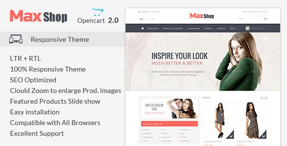 Maxshop – Responsive Opencart Theme
