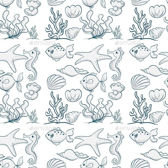Seamless Underwater - Animals Characters