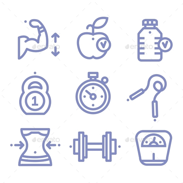 Sports and Fitness Icons - Health/Medicine Conceptual