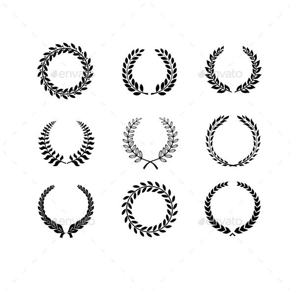 Laurel Wreaths - Decorative Symbols Decorative