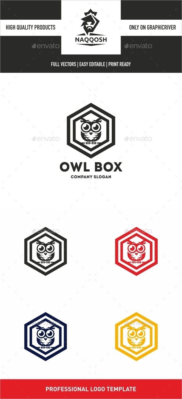 Owl Box - Logo Templates