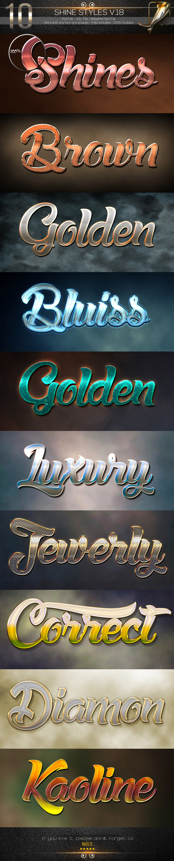 10 Shine Styles V.18 - Text Effects Styles