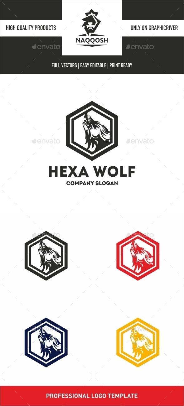 Hexa Wolf - Logo Templates