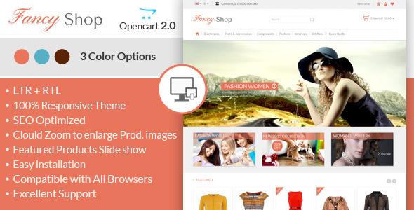 Fancy Shop – Opencart Responsive Theme