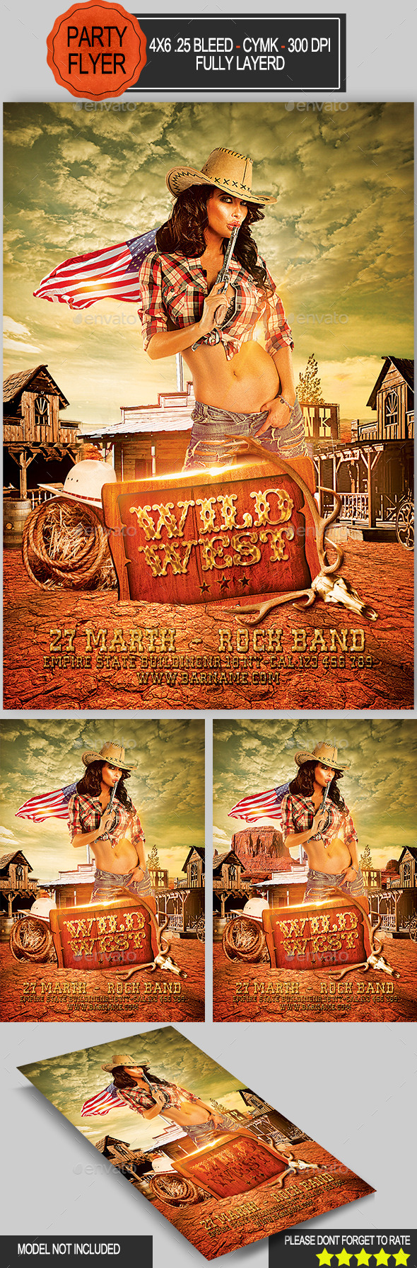 Wild West Flyer - Clubs & Parties Events