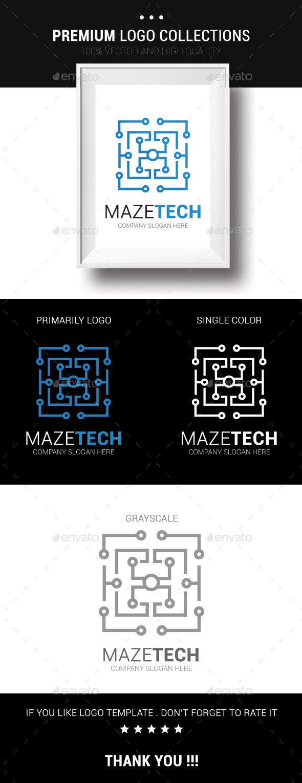 Maze Tech - Symbols Logo Templates