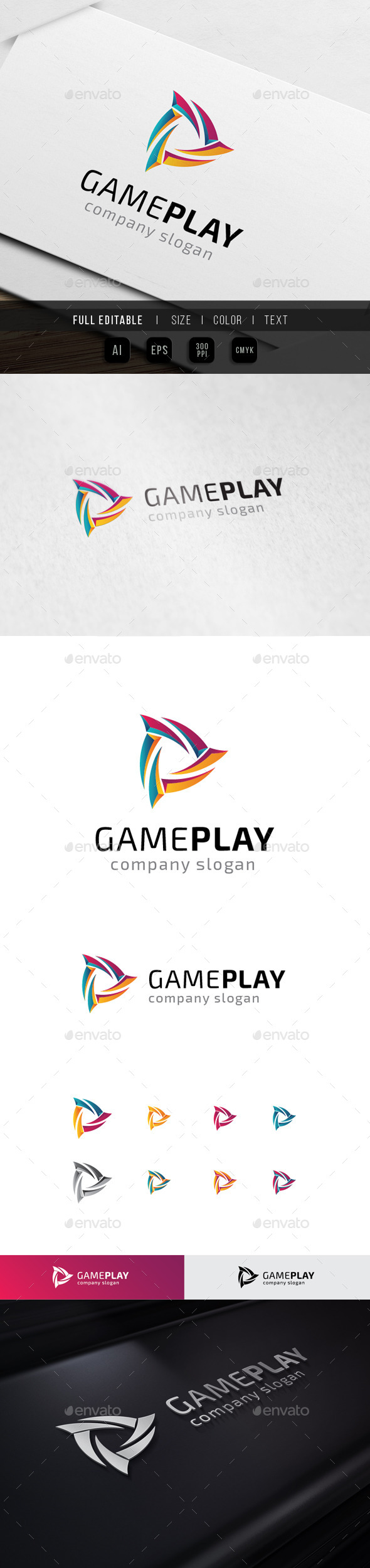 Wild Game - Play Multimedia - Abstract Logo Templates