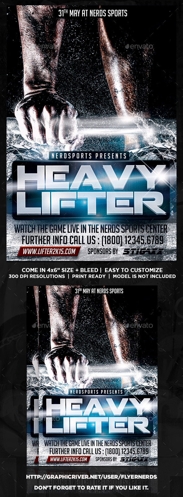 Heavy Lifter 2K15 Championships Sports Flyer - Sports Events