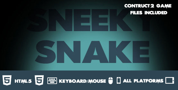 Sneaky Snake Construct 2 HTML 5 Game - CodeCanyon Item for Sale