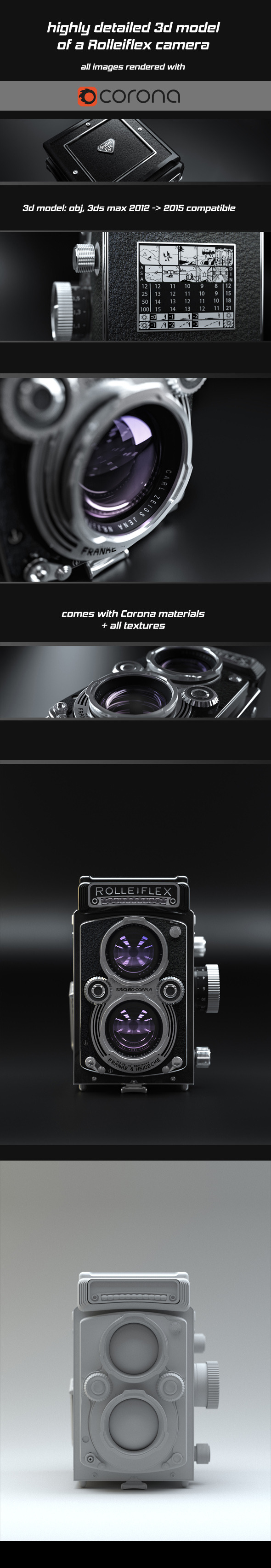 Rolleiflex cam 3D - 3DOcean Item for Sale