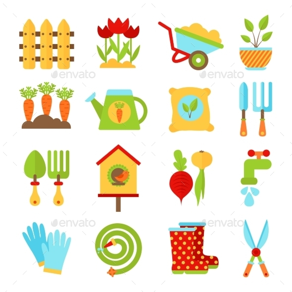 Gardening Symbols  - Web Elements Vectors