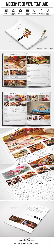 Modern Food Menu Design - Food Menus Print Templates
