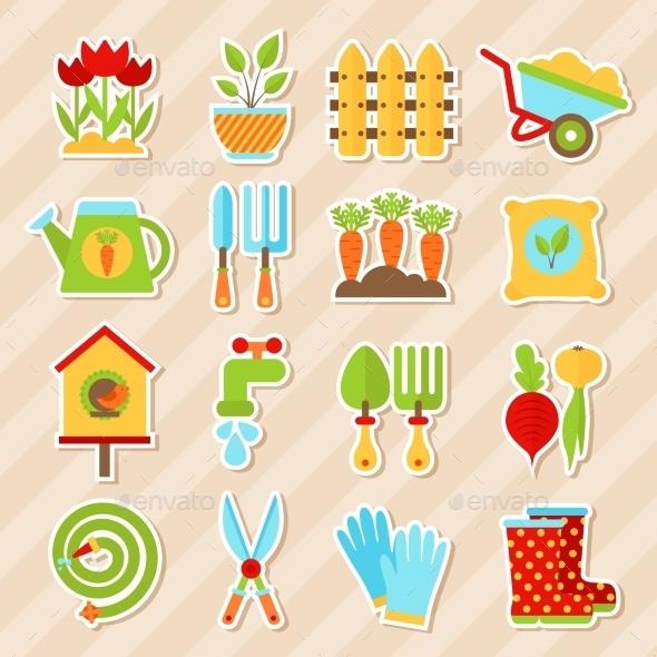 Garden Element Stickers  - Seasons Nature