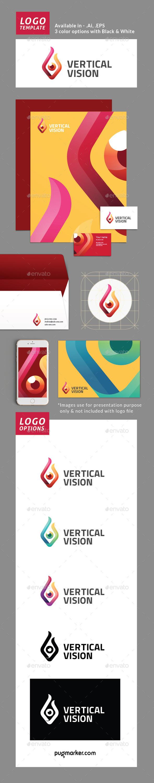 Vertical Vision Logo Template - Abstract Logo Templates