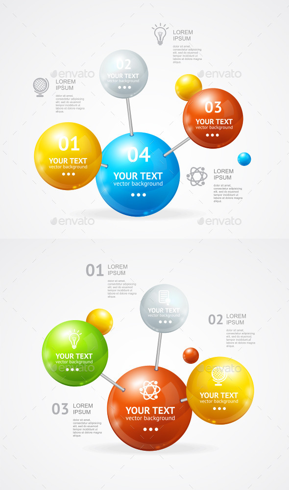 Vector Infografic Molecule - Concepts Business