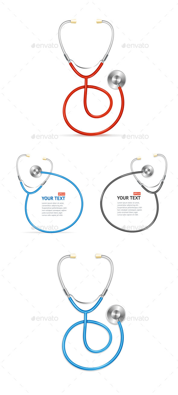 Vector Stethoscope Set - Objects Vectors