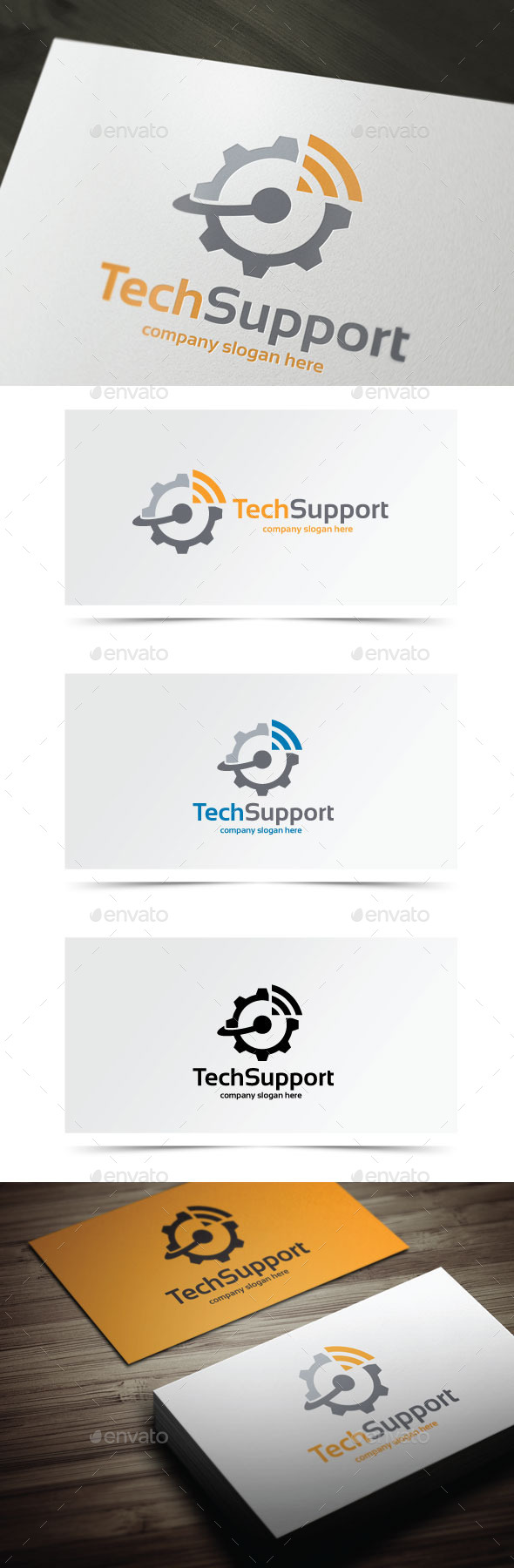 Tech Support - Objects Logo Templates