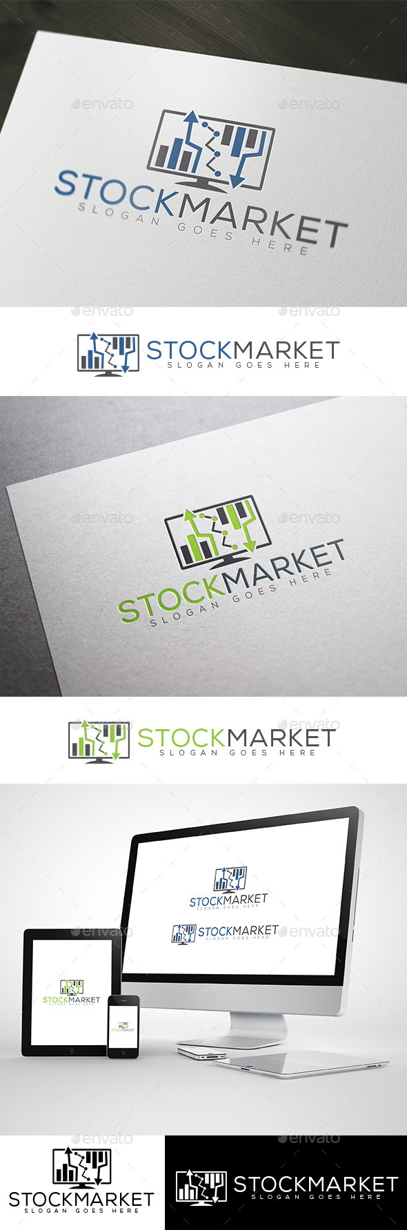 Stock Market & Online Finance Logo - Abstract Logo Templates