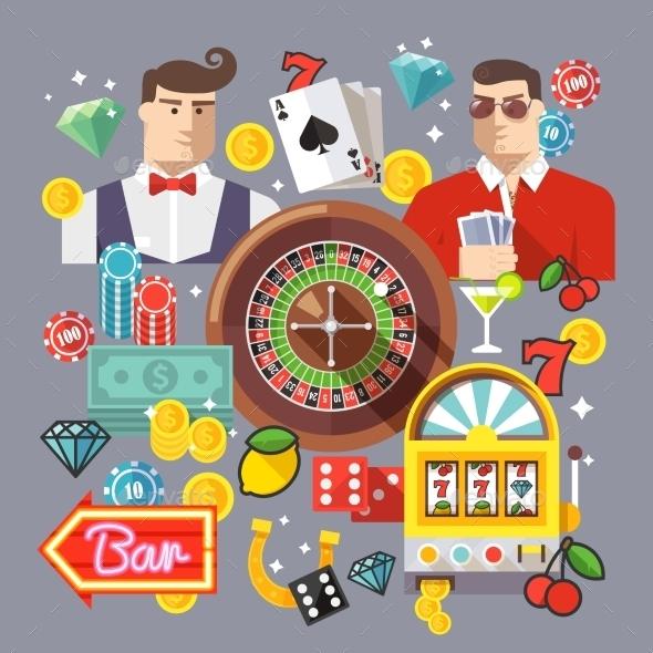 Colorful Casino Concept - Web Technology