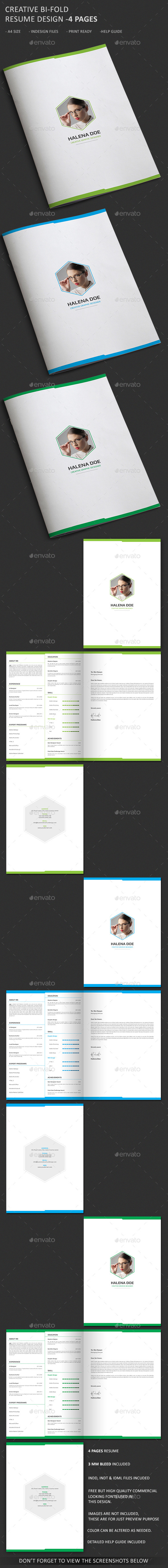 Clean and Creative Resume Template- 4 Pages