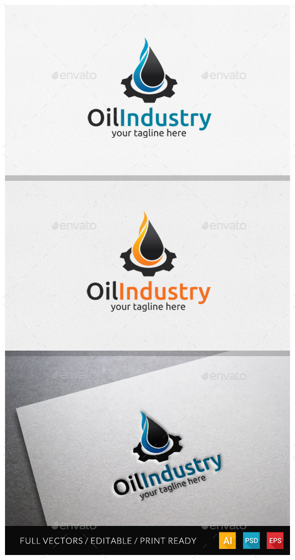 Oil Industry Logo Template - Symbols Logo Templates