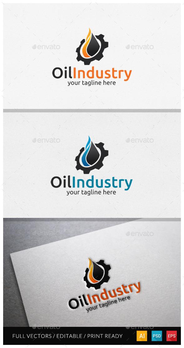 Oil Industri Logo Template - Symbols Logo Templates