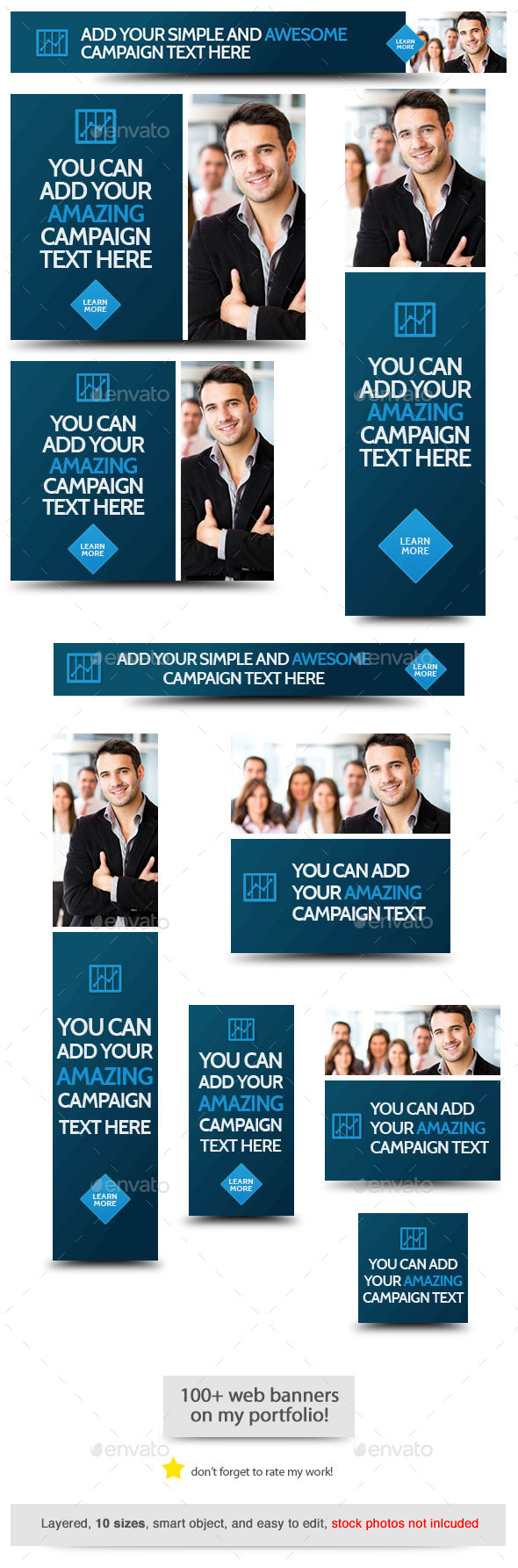 Corporate Web Banner Design Template 58 - Banners & Ads Web Elements
