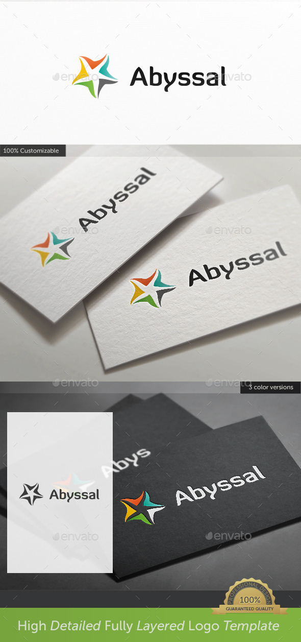 Sea Star Abyssal Logo - Nature Logo Templates