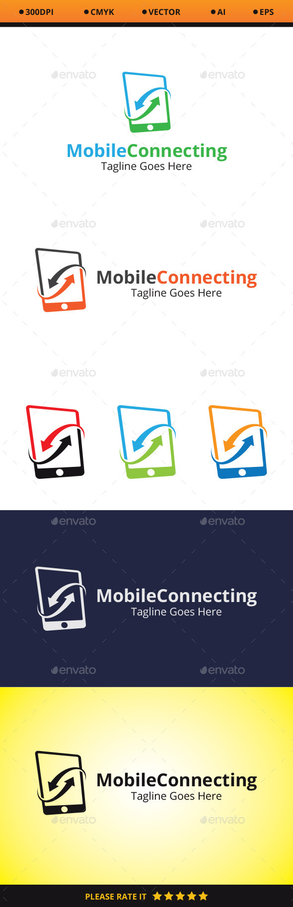 Mobile Connecting - Symbols Logo Templates