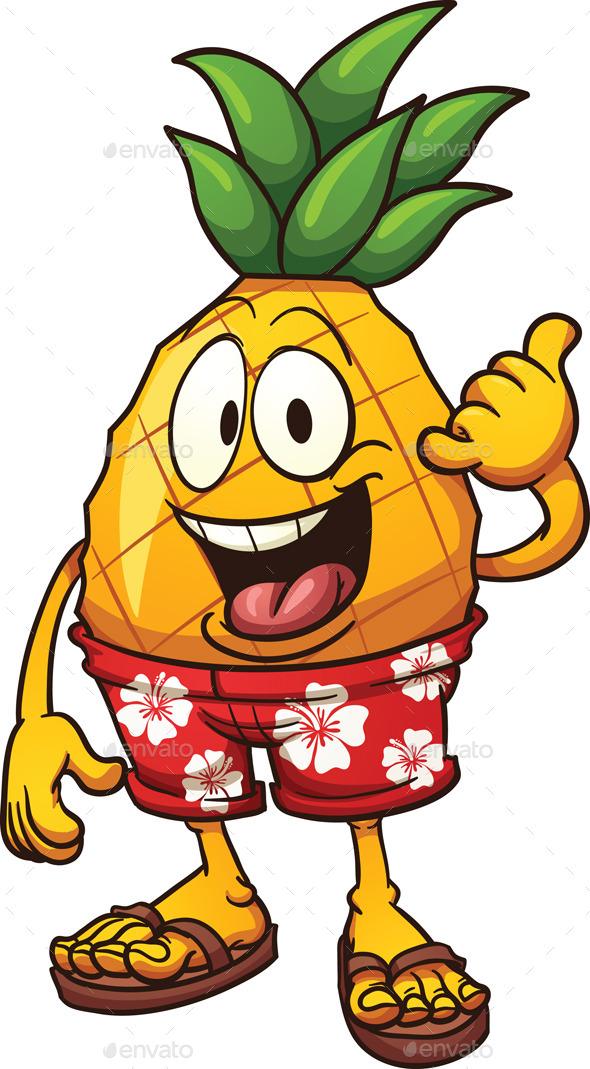 Hawaiian Pineapple - Food Objects