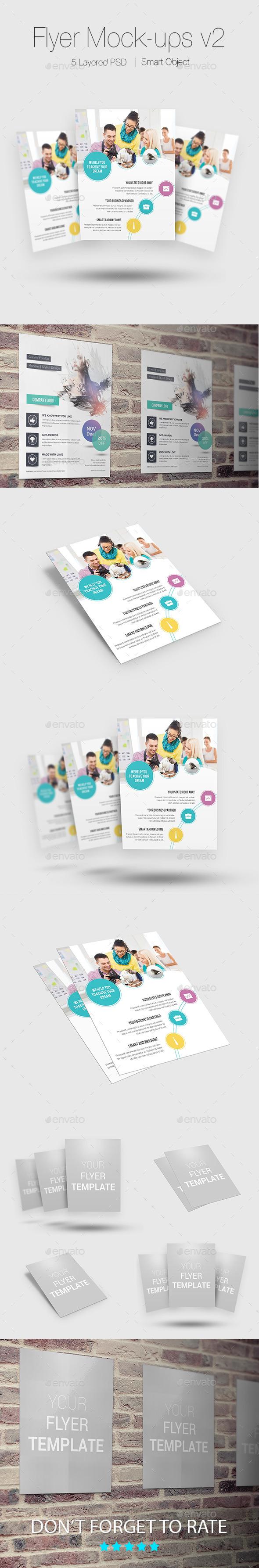 Flyer/Poster Mock-ups v2 - Flyers Print