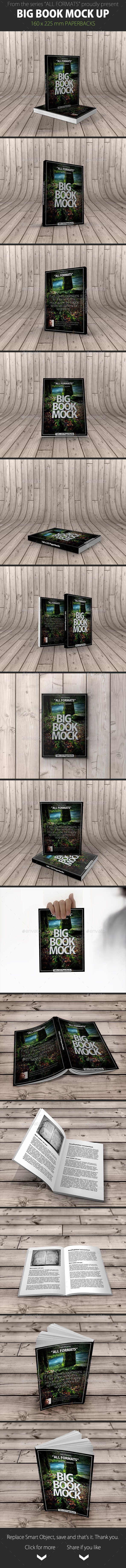 Book Mockup Dimension 160 x 225 mm - Paperbacks - Books Print