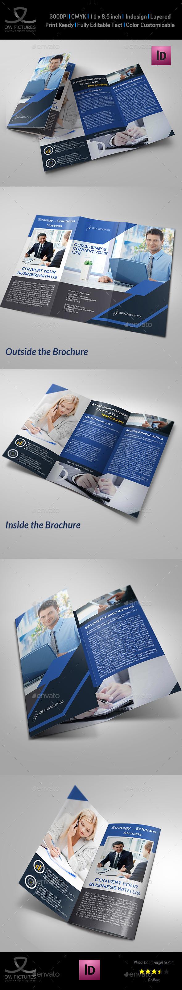 Company Brochure Tri-Fold Brochure Vol.18 - Brochures Print Templates