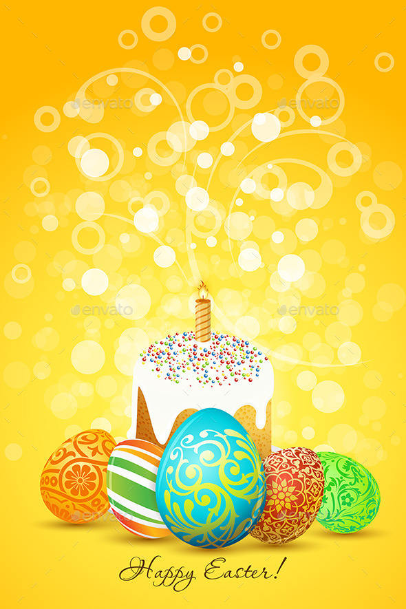 Easter Eggs with Ornament Decoration - Miscellaneous Seasons/Holidays