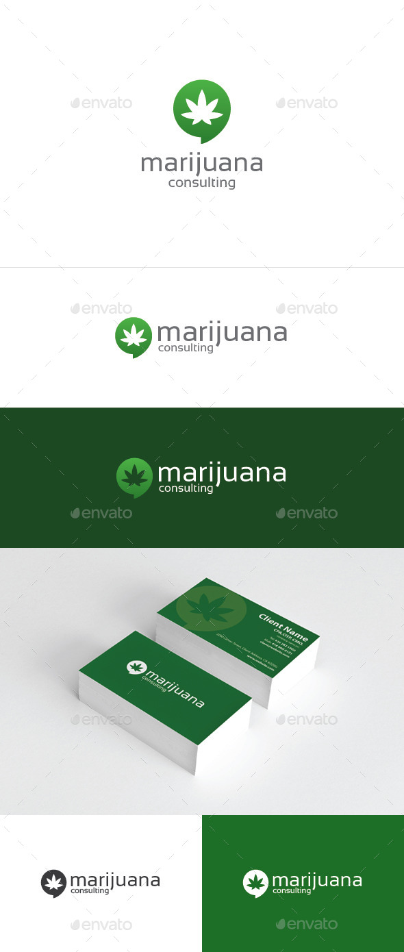 Marijuana Consulting - Humans Logo Templates