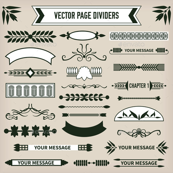 Decorative Page Dividers - Borders Decorative