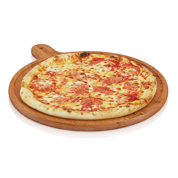 Pizza on wooden board - 3DOcean Item for Sale