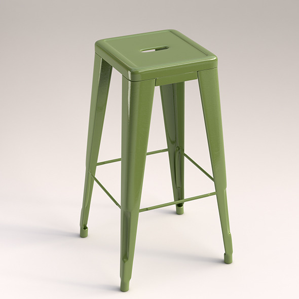 Metal stool - 3DOcean Item for Sale