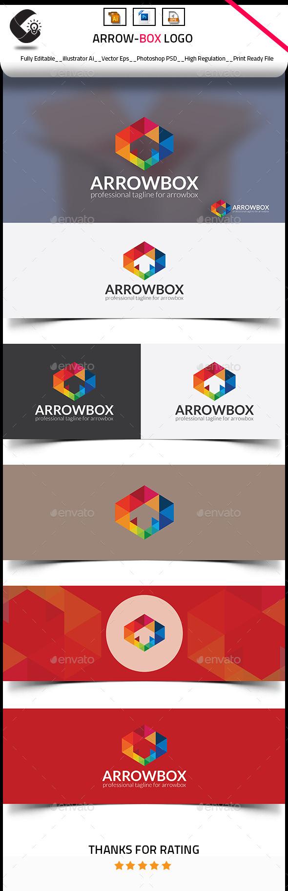 Arrow Box Logo - Objects Logo Templates