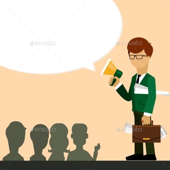 Investor Speaks in Megaphone - Concepts Business