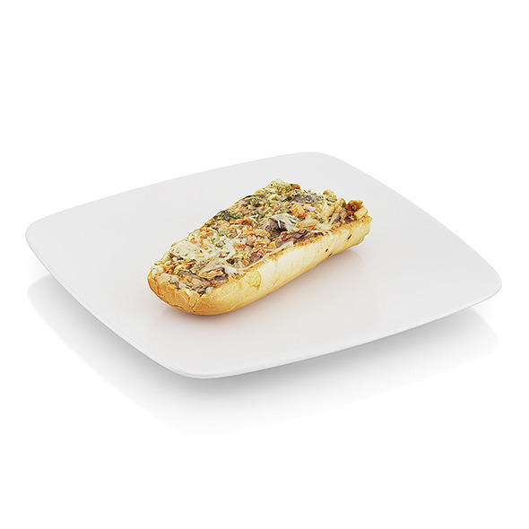 Baguette baked with mushrooms - 3DOcean Item for Sale