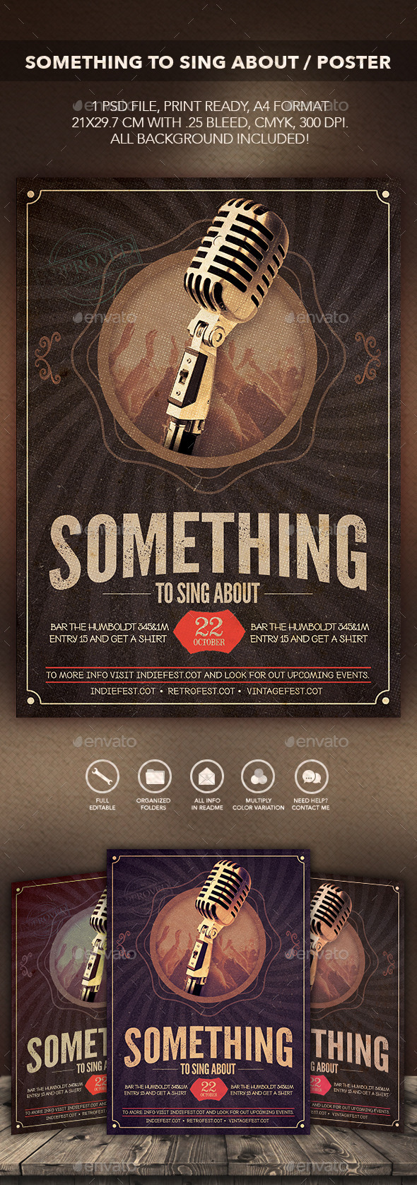 Something to Sing About Flyer/Poster - Flyers Print Templates