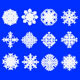 Snowflakes Brushes - GraphicRiver Item for Sale