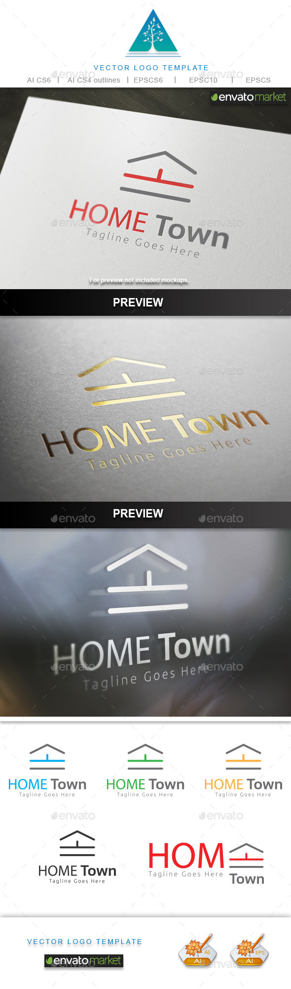 Home Town Logo - Buildings Logo Templates