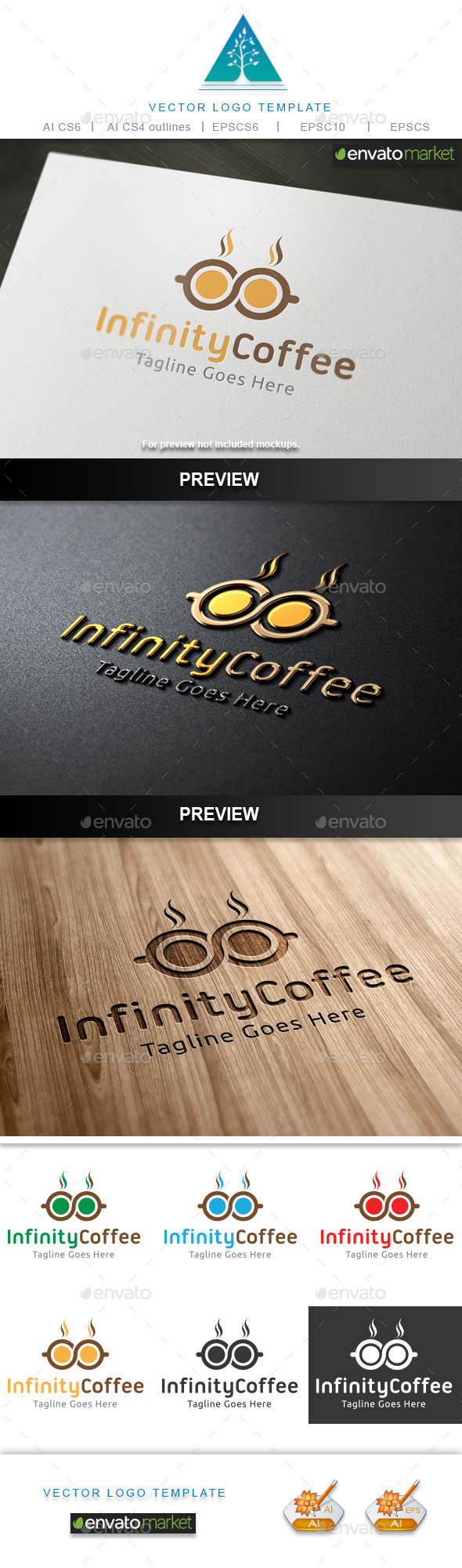 Infinity Coffee Logo - Food Logo Templates