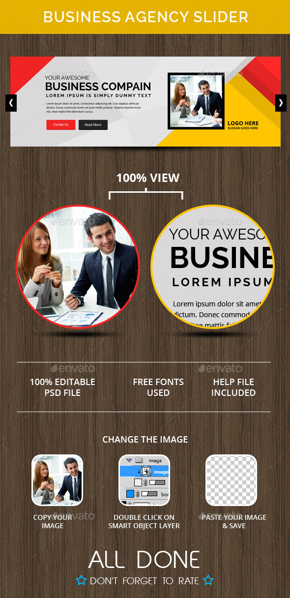 Business Agency Slider - Sliders & Features Web Elements