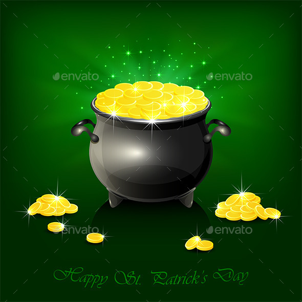 Cauldron with Golden Coins - Miscellaneous Seasons/Holidays