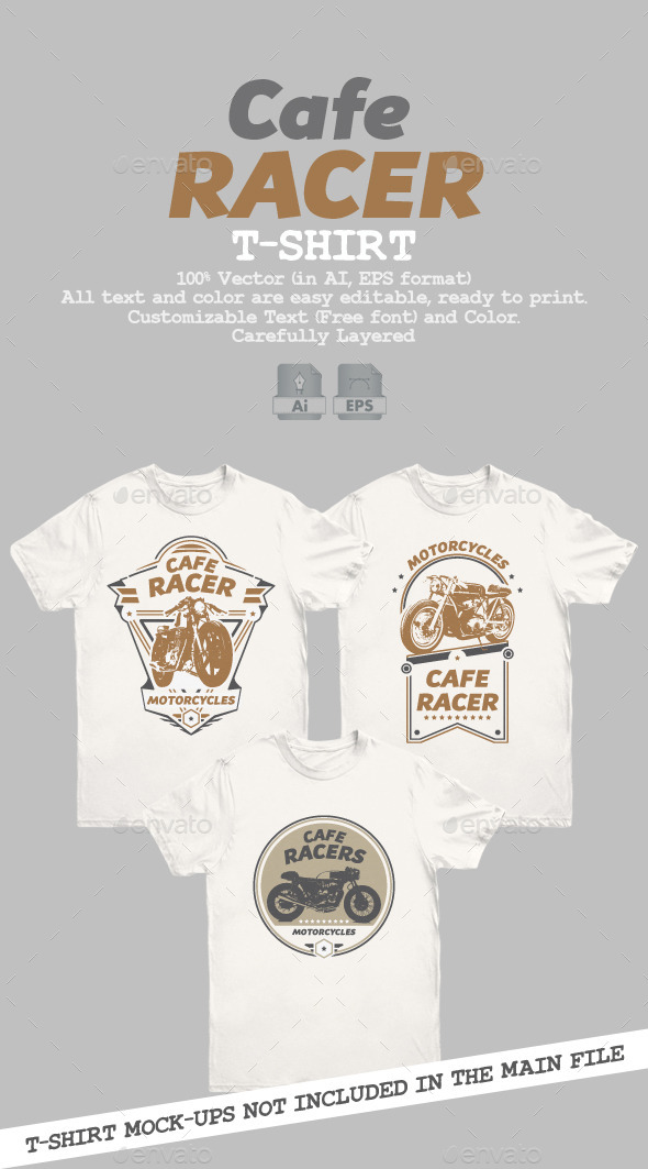 Cafe Racer T-Shirt - Designs T-Shirts